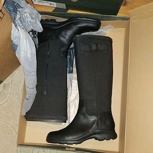 New Timberland turain WP tall black womens boot